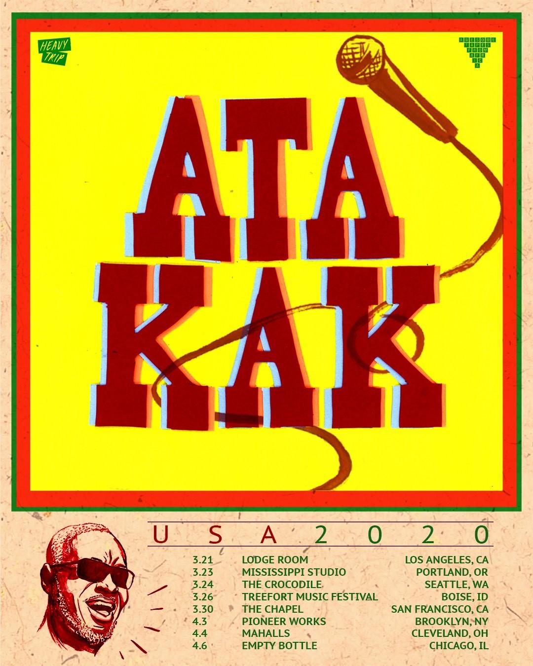 News: Ghanaian Artisit Ata Kak Announces His Very First USTour