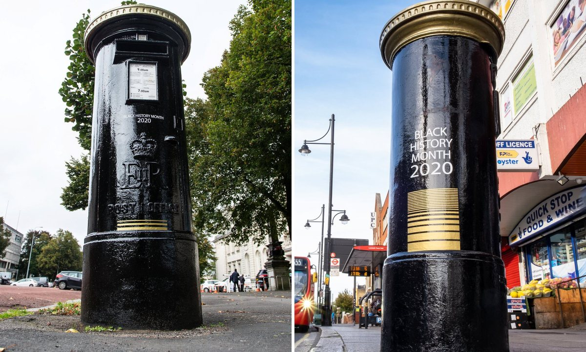 Four Postboxes Across the United Kingdom Are Painted Black To Honor Significant BlackBritons